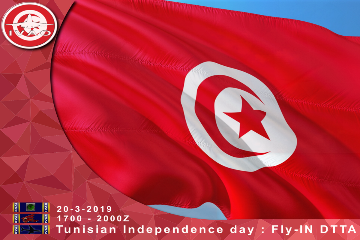 Tunisian Independence Day Fly IN